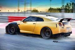 AMS改装亚金色日产GT-R