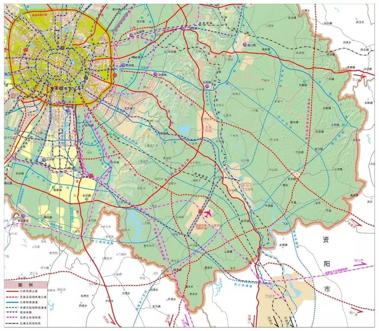 成都新机场占地规划