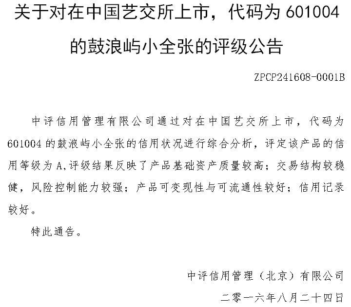 信用评级报告:鼓浪屿小全张(中艺601004)-搜狐高中邯郸复兴区的好图片