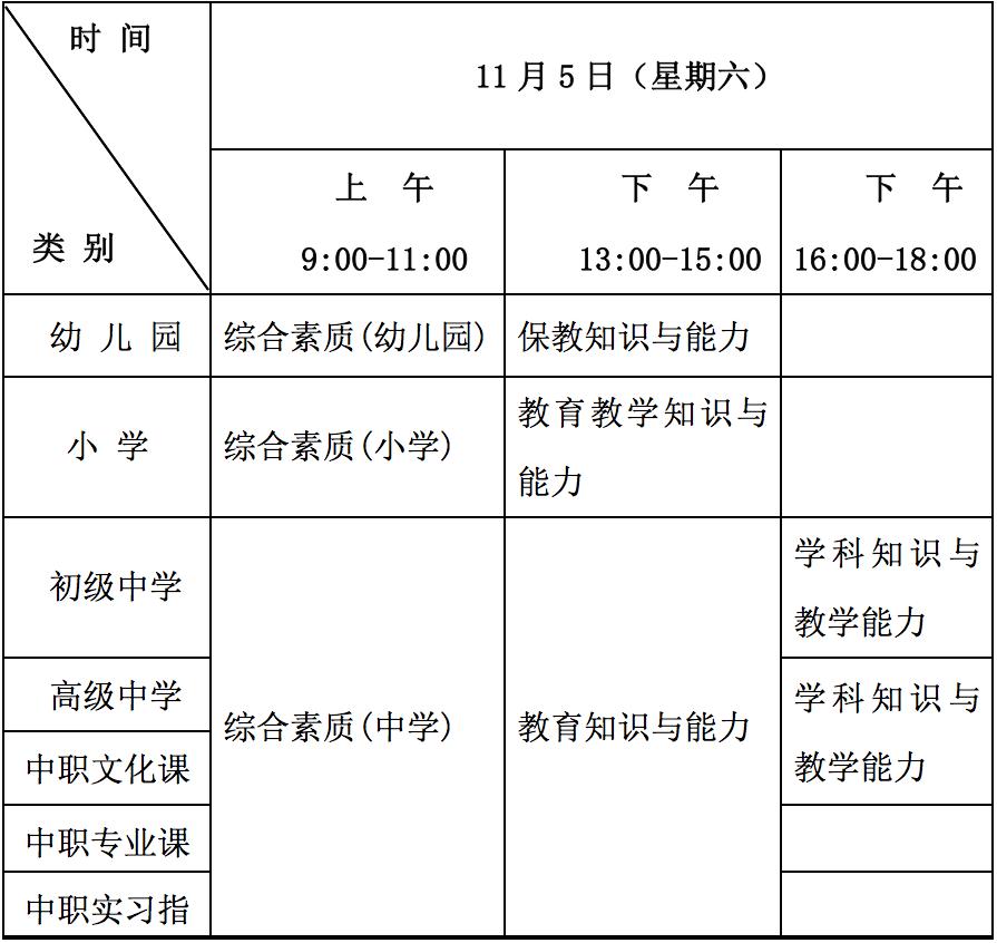 重庆2016年下半年中小学教师资格考试(笔试)公告