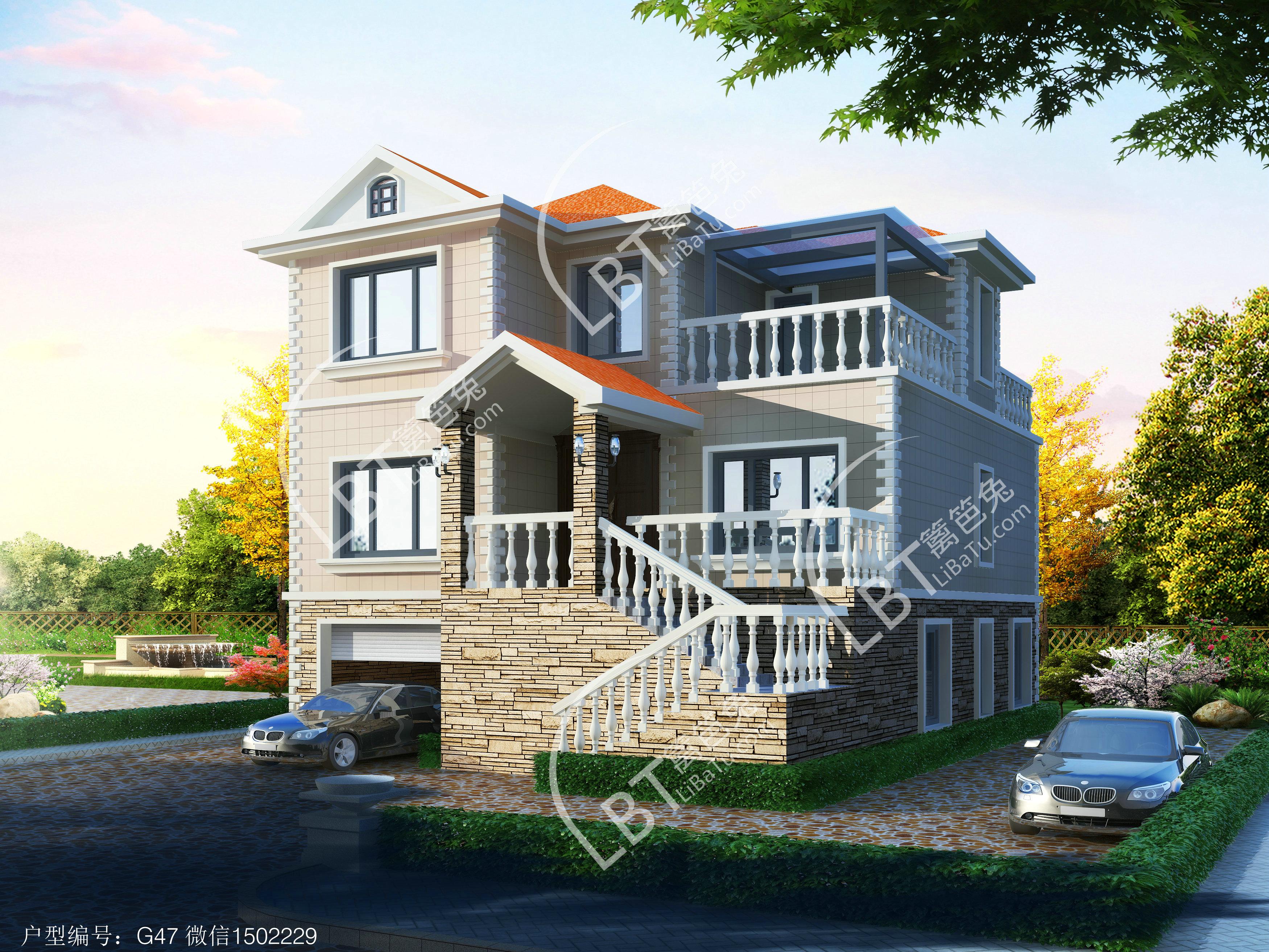 新农村自建房屋设计图纸 自建三层楼房设计图大全