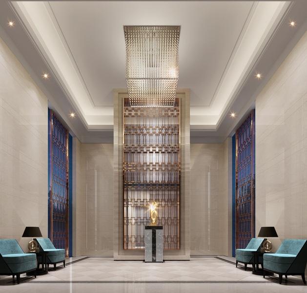 华美奢装入户大堂,最高6米超高层高,堪比超甲级写字楼的尊贵出入体验图片