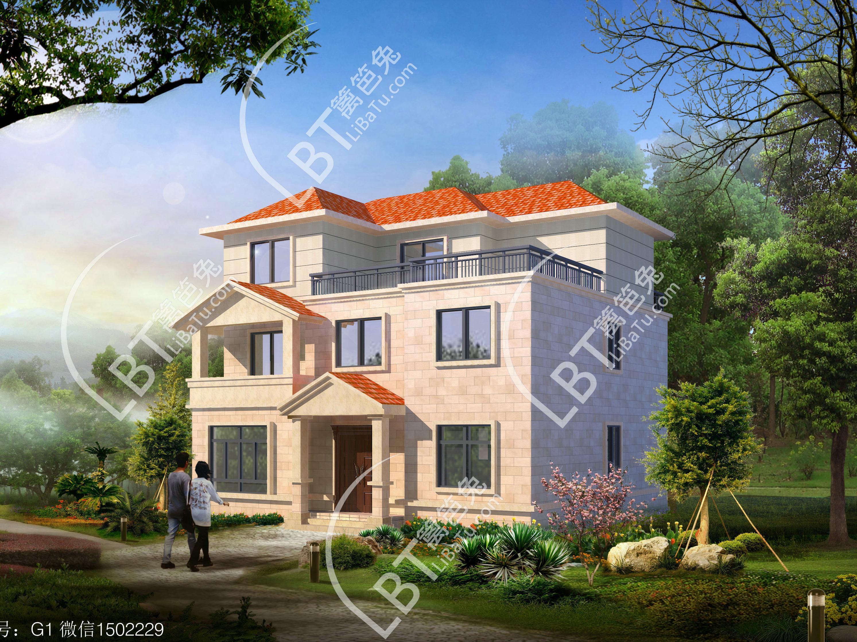新农村住宅图集精选,农村别墅设计,自建三层楼房设计图,自建房