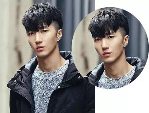 喜欢染发颜色的男生们可以来看看这款清新自然的男生潮流黑色短发发型图片