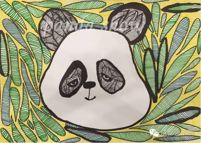 创意熊猫面具手工制作图片