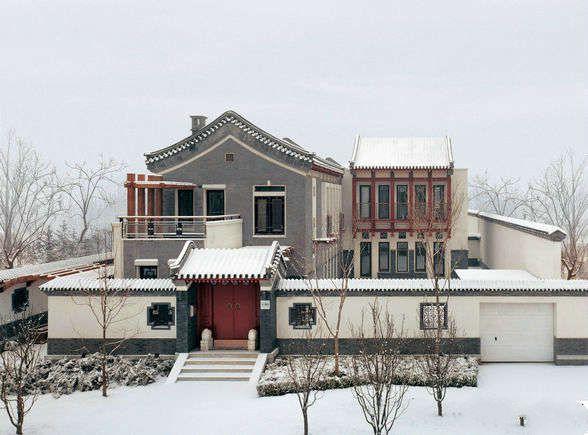 房产 正文  这是一家新乡村式的小别墅,外观的规划很有古典新中式的图片
