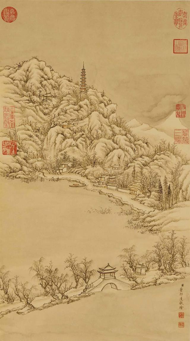 历代名家笔下杭州 西湖十景 国画作品赏析