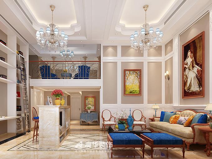 设计风格:法式新古典   装修材料:莎安娜米黄大理石,澳华软装定制墙纸图片