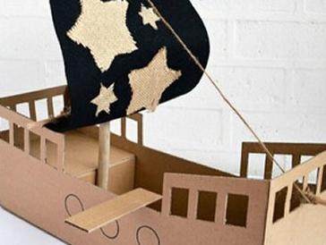快递纸箱别扔!男孩纸超爱的海盗船10歩搞定