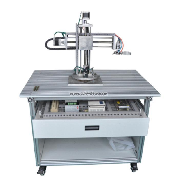 1,机械手实验装置由底座,旋转底座,气动部分,三维(x,y,z)运动机械及图片