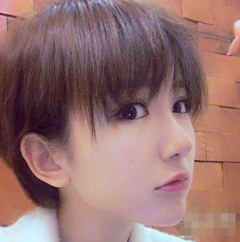 二喜毛晓彤实力发型超短发图片卖萌!图片漂亮长发的发型图片