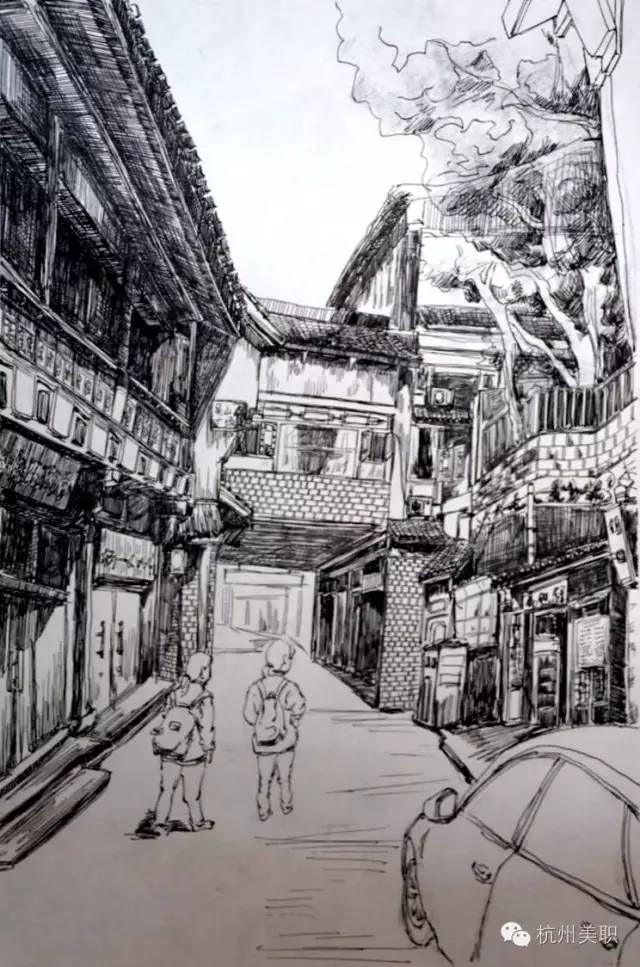 """七套妙趣横生的""""杭州元素""""手绘图,你想不想来一套?"""