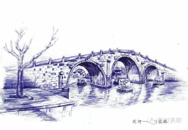 """杭州元素""""手绘图"""
