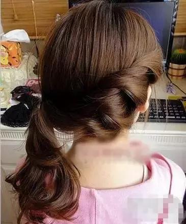 长头发编发扎法图解(2)图片