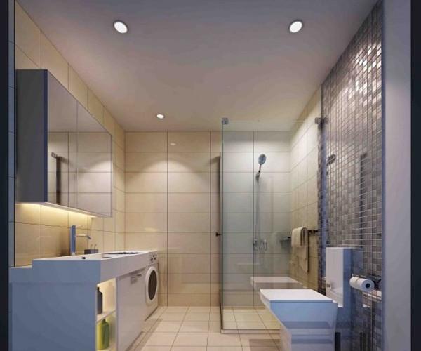 家庭小卫生间隔断_很多家庭都采用玻璃隔断的方法来装修卫生间,因为比例比较节省空间,且