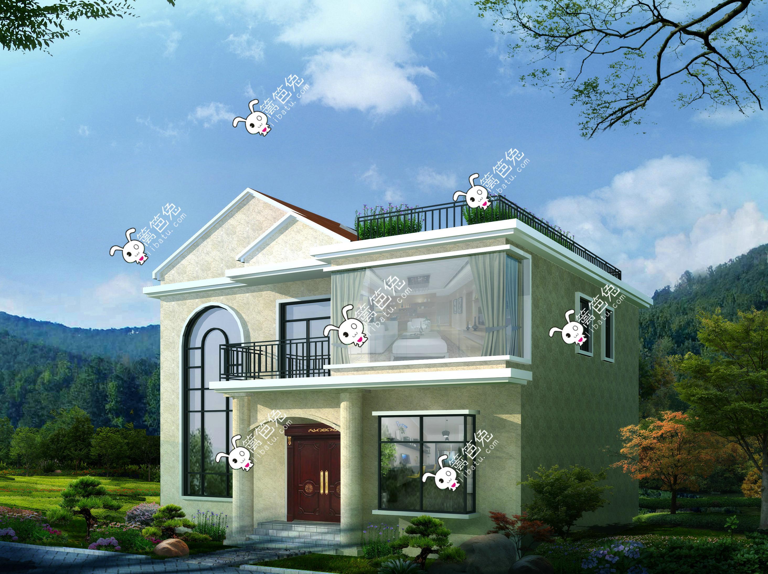 农村两层楼房设计图-农村两层半楼房 农村两层楼房实景图