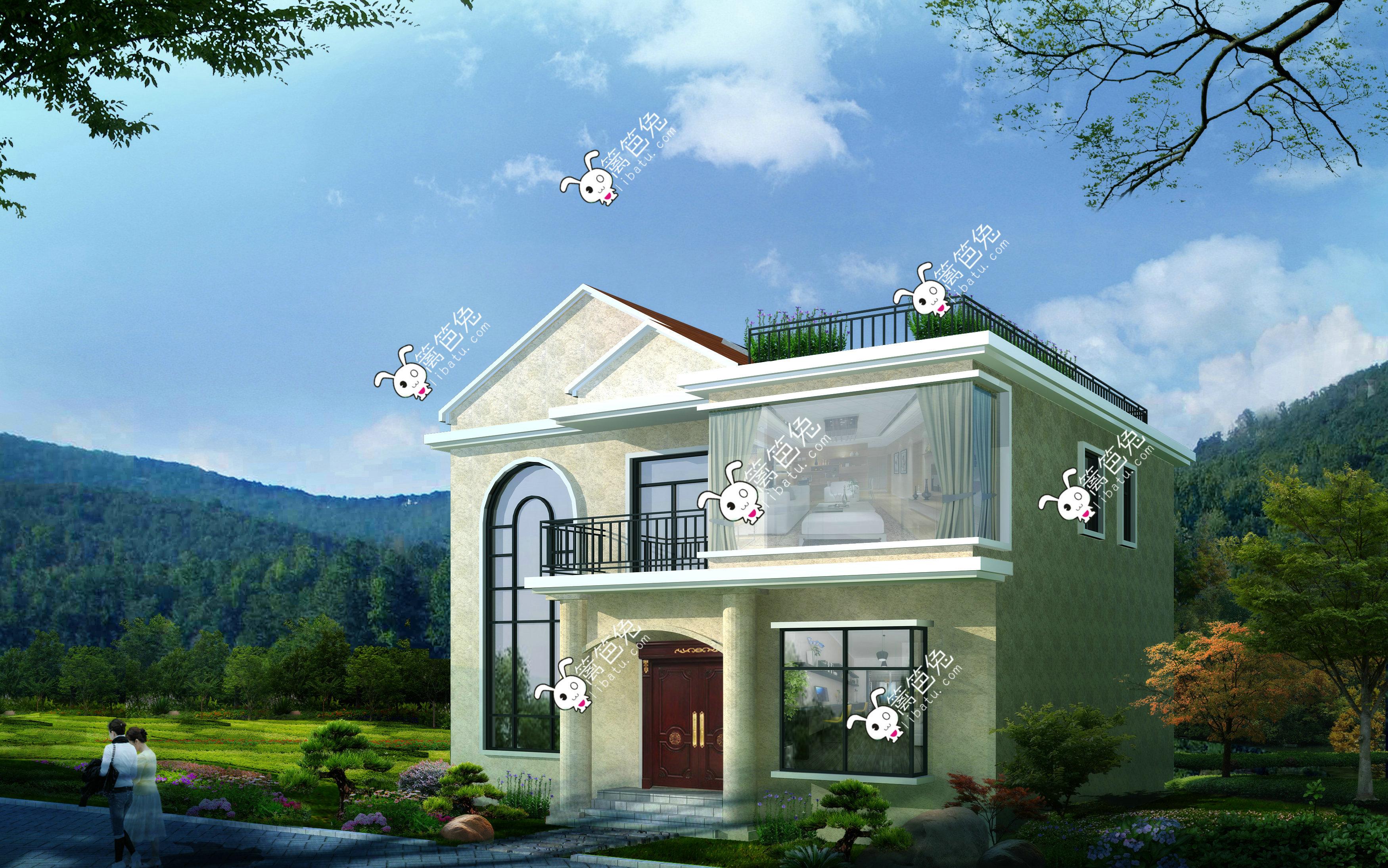 房屋两层图纸设计图两层小楼房别墅v房屋价钱如何计算平面设计农村图片