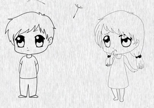 动漫 简笔画 卡通 漫画 手绘 头像 线稿 600_420