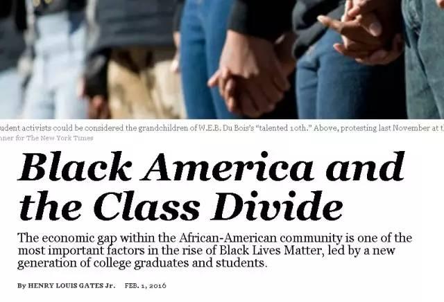 时报》分析美国黑人与贫富差距问题的报道截图-一句中国人听不出