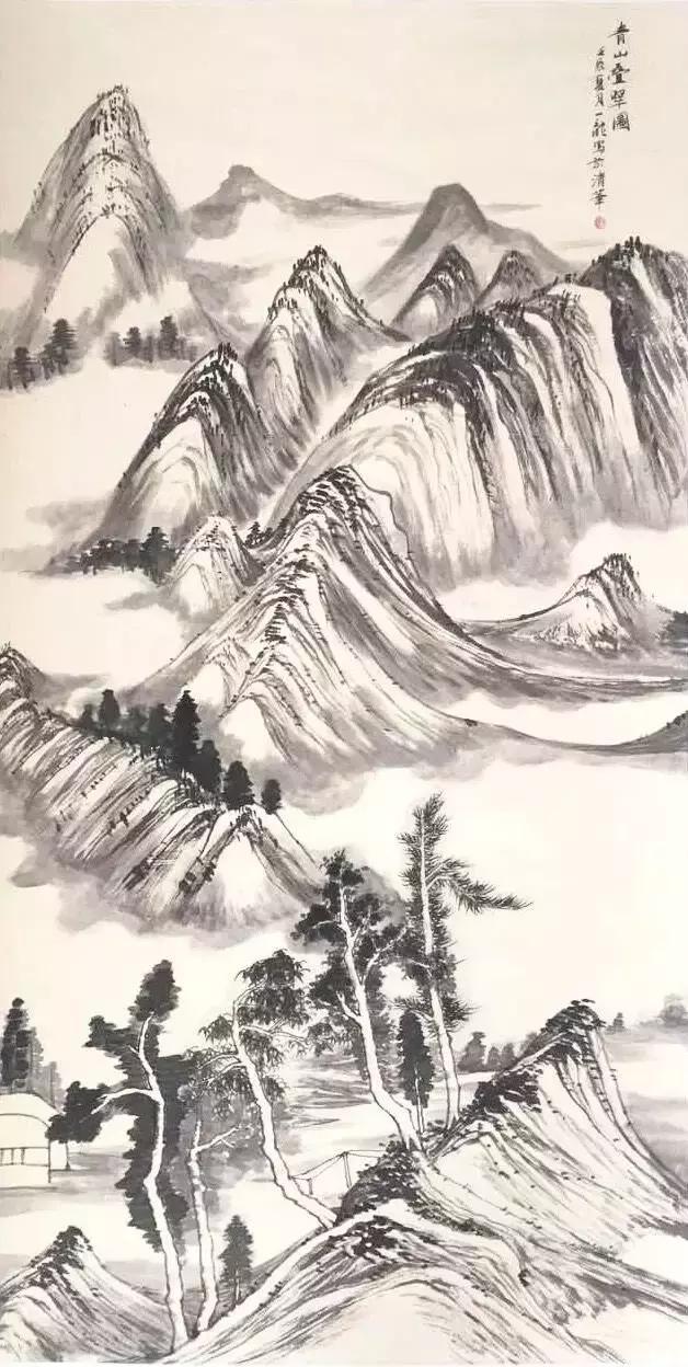 以深遂清雅并独具艺术个性的笔墨语言,创造出当今画坛禅意桃源山水画