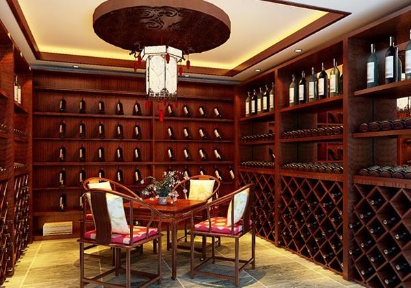 中式风格酒柜隔断设计