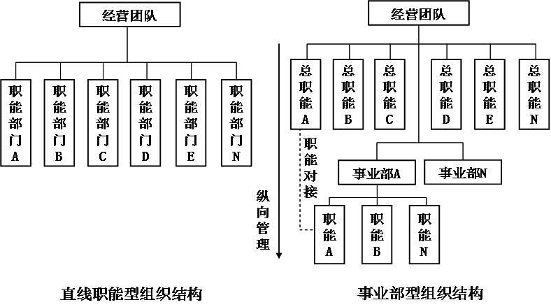 职能型组织结构示意图图片