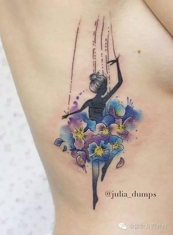 女孩的小清新纹身