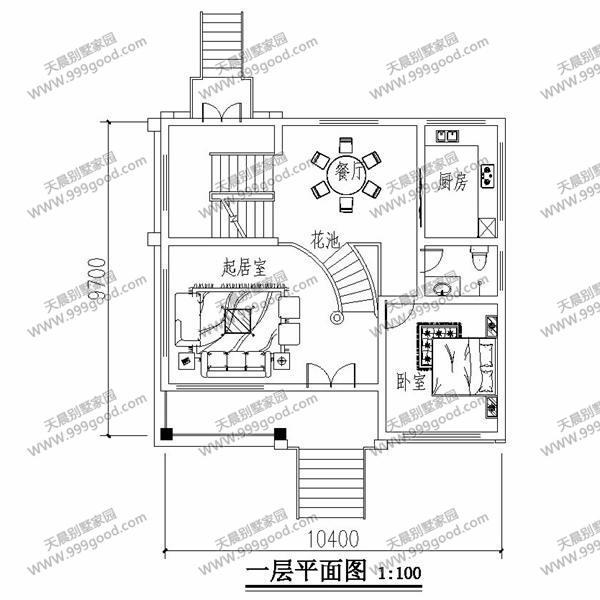 超火爆的三层别墅设计图!10米x10米带架空车库