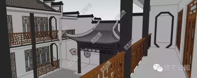 中式阁楼内部结构图