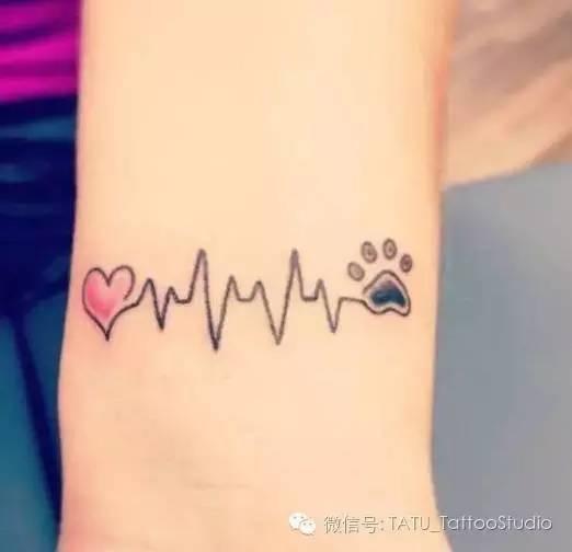 各种心电图小纹身!