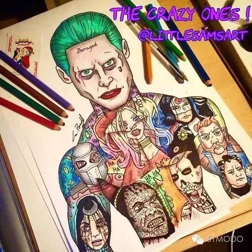 漫威小丑手绘图片