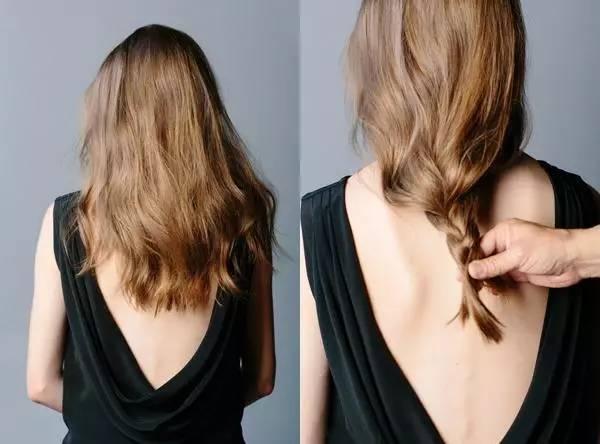 不用剪刀不用带假发 30秒让长发变短发图片