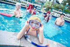夏日泳池《英雄联盟》Cosplay之性感比基尼泳池派对