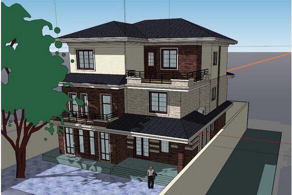 500平米图纸三层新别墅装修别墅和平面农村图纸福龙图片