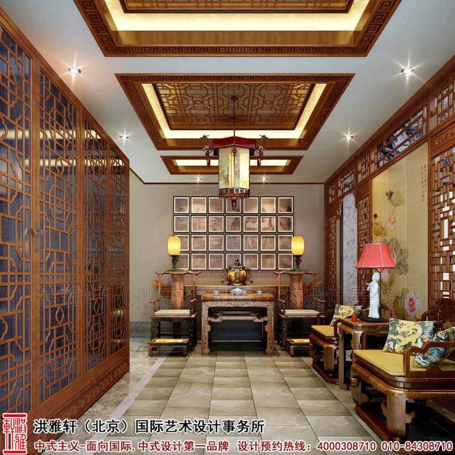 安徽别墅古典中式装修, 以北方宫廷建筑设计为依据,再结合独具匠心的