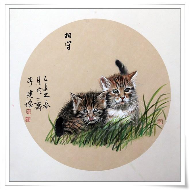 画家李建礼笔下的猫咪