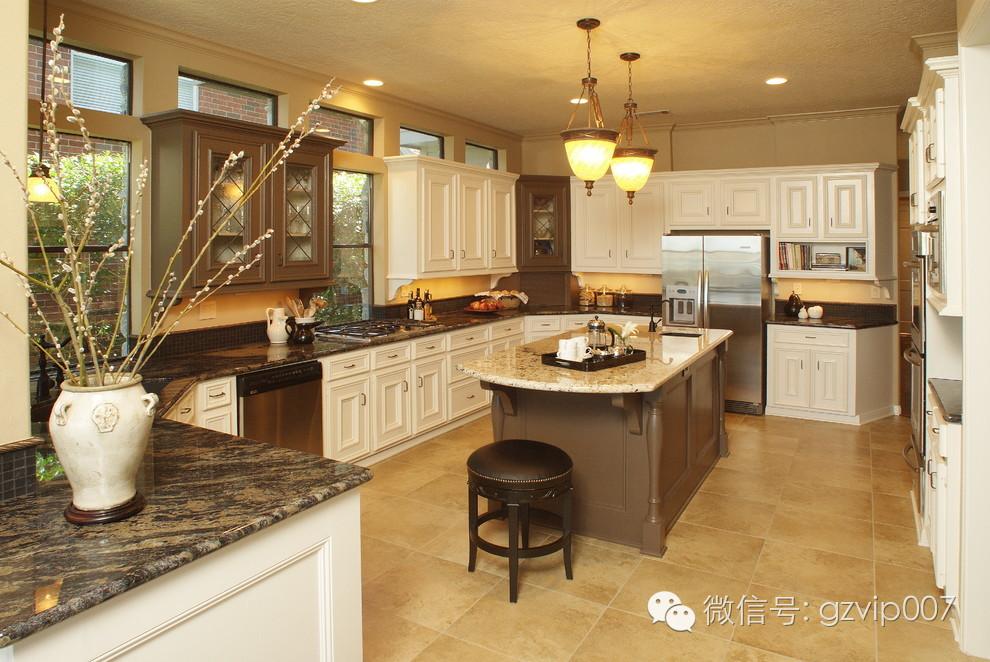 在新中式的厨房装修风格中,它除了保留厨房基本功能之外,在装修的时候图片