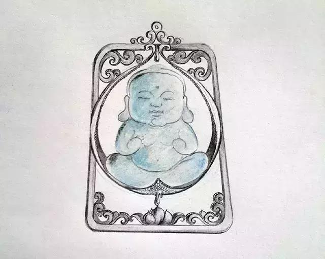 师们的翡翠镶嵌手绘图