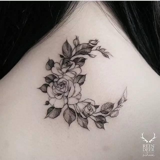 纹身素材 韩国纹身师 zihwa 夏日花卉小清新纹身素材 花卉素材图片