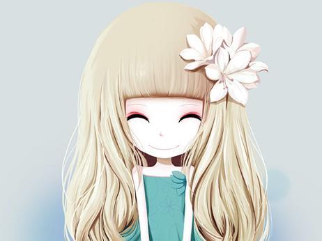 最漂亮的花花姑娘_姑娘唯美卡通