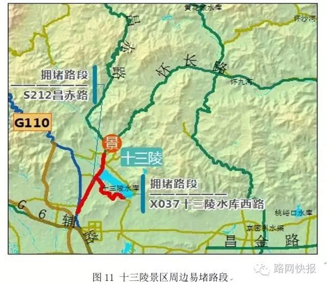 十三陵景区:预计昌赤路,水库西路高峰时段易发拥堵.图片