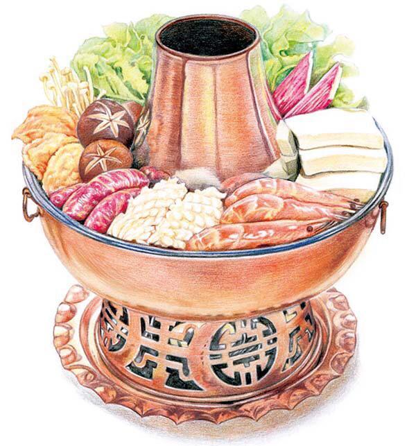 济南老滋味手绘特色小吃,视觉上的美食盛宴