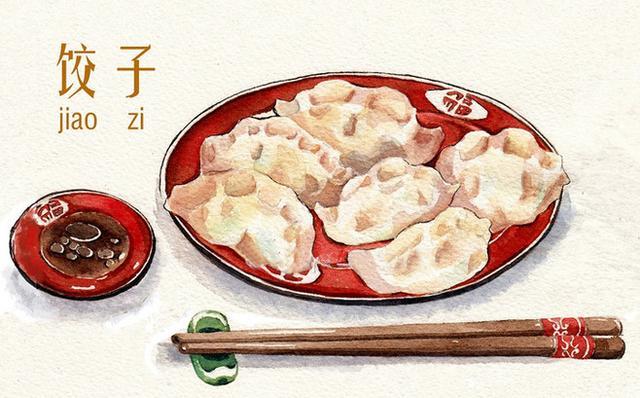 济南老滋味手绘特色小吃,视觉上