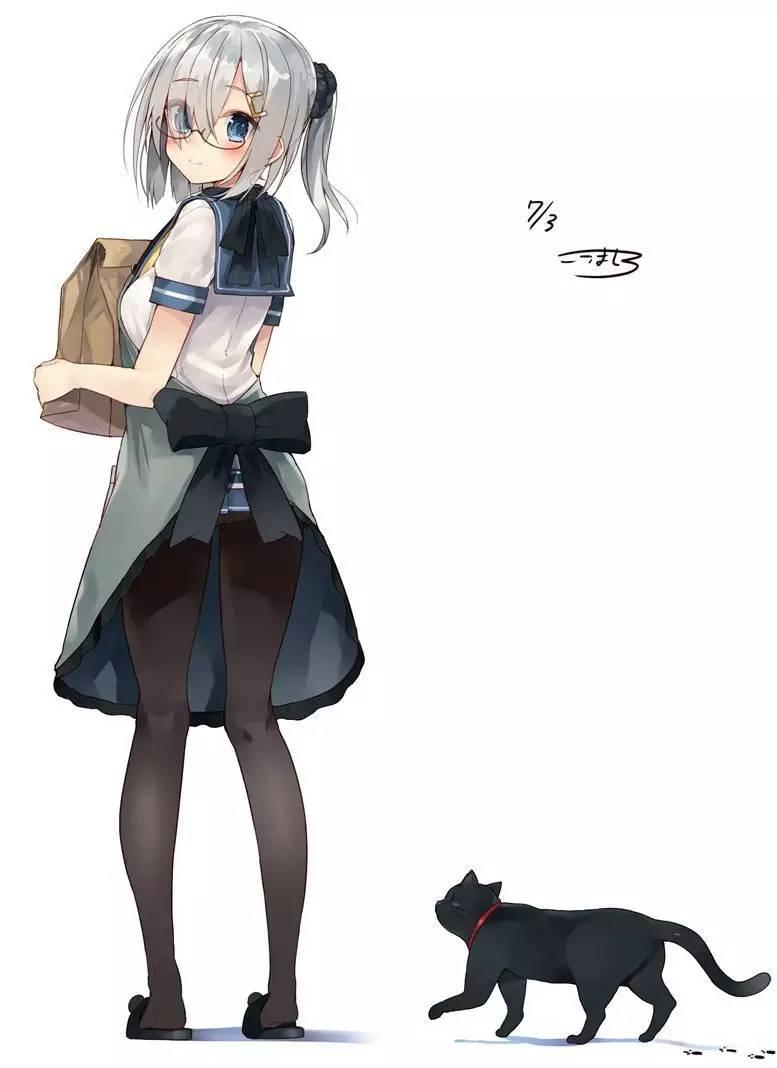 【p站美图欣赏】少女与猫特辑-搜狐动漫