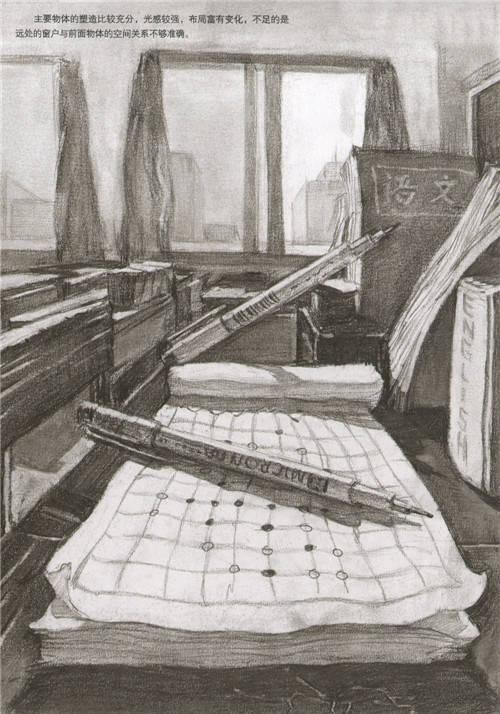 清华美院往年设计素描高分卷