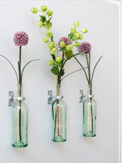 创意家居——玻璃瓶变身花瓶图片