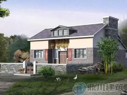 图我们带来的这款传统中式风格的农村平房设计图例