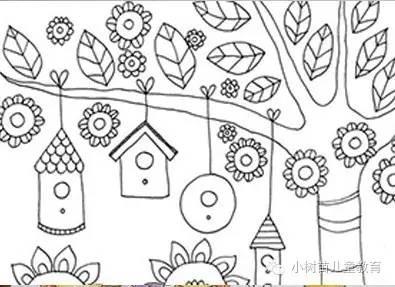 手工资源秋季的创意,超多秋季涂鸦模版可下载,打印即可图片