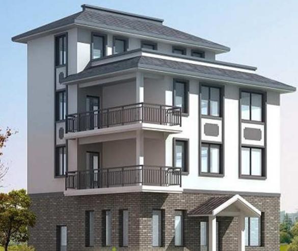 采用砖混结构建筑而成,是一栋清雅素净的中式四层民居楼.