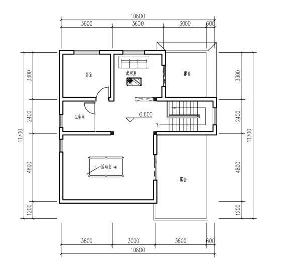 11米x9米自建房平面图